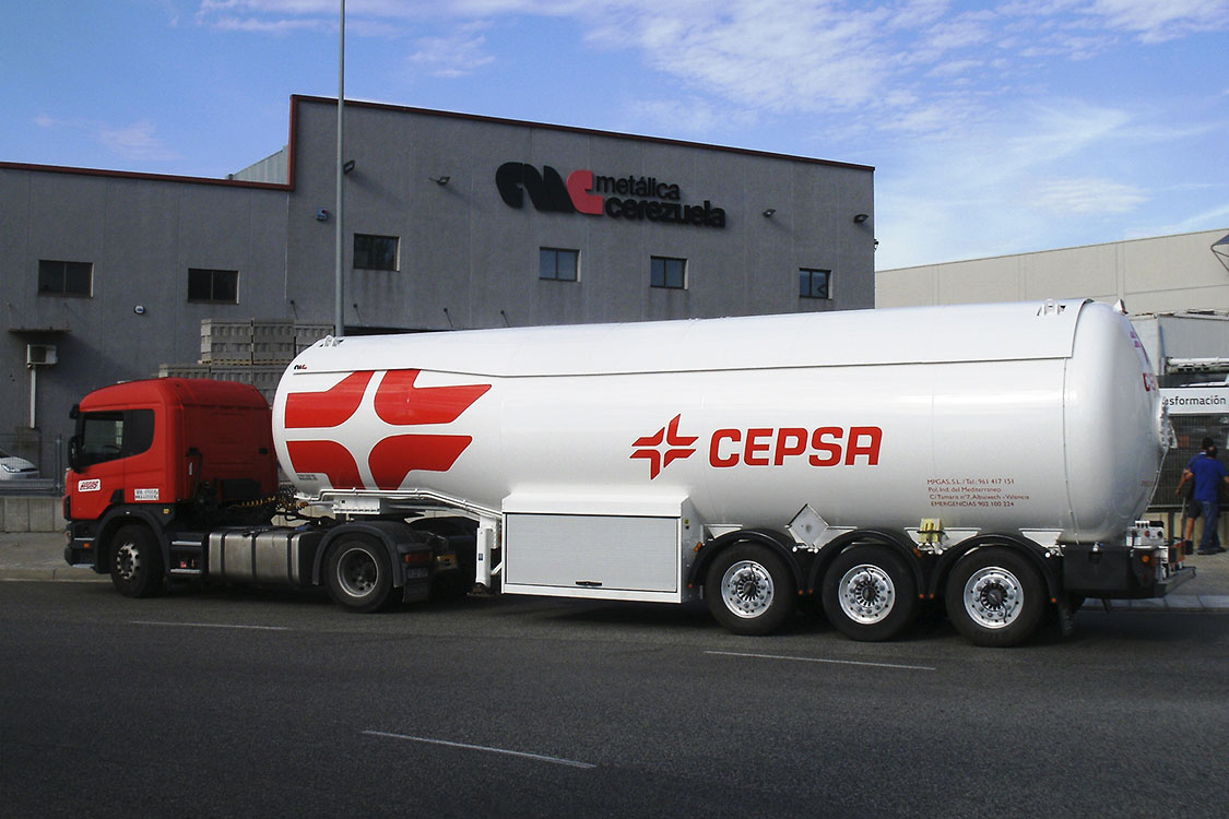 Semirremolque 3 eje para el transporte y distribución de GLP