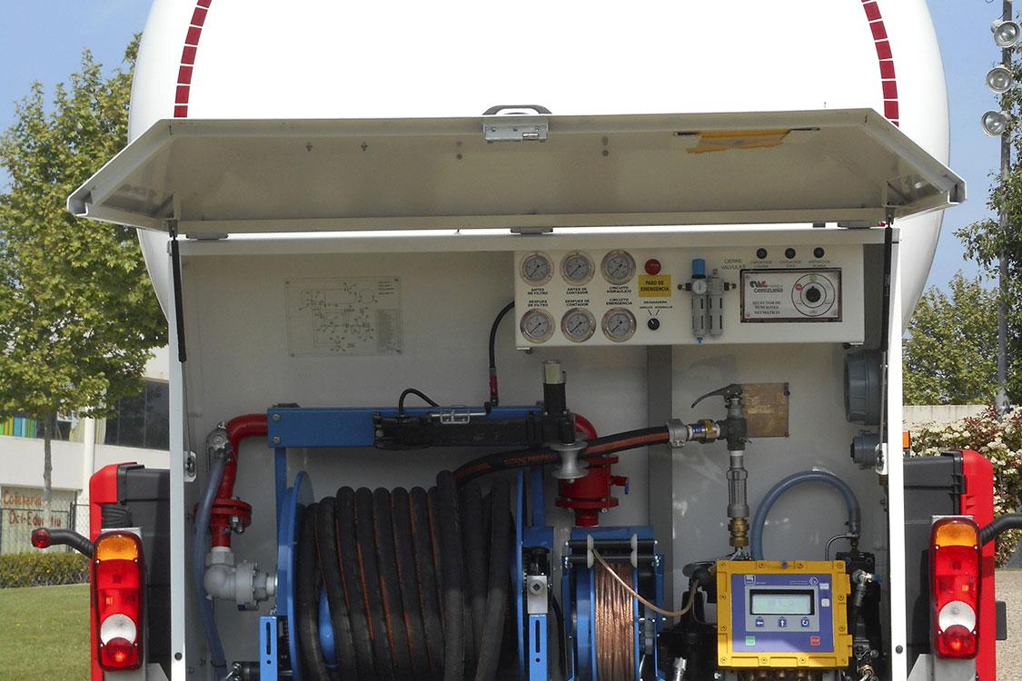 Autocisterna 2 ejes fija para el transporte y distribución de GLP