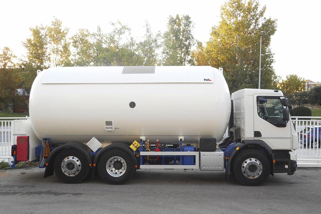 Autocisterna 3 ejes fija para el transporte y distribución de GLP