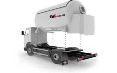 Autocisterna 2 ejes móvil para el transporte y distribución de GLP
