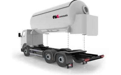 Autocisterna 3 ejes móvil para el transporte y distribución de GLP