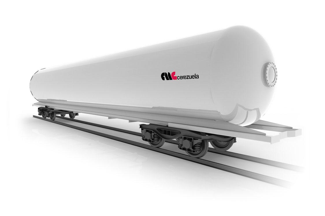 Vagón cisterna para el transporte de GLP - Amoníaco