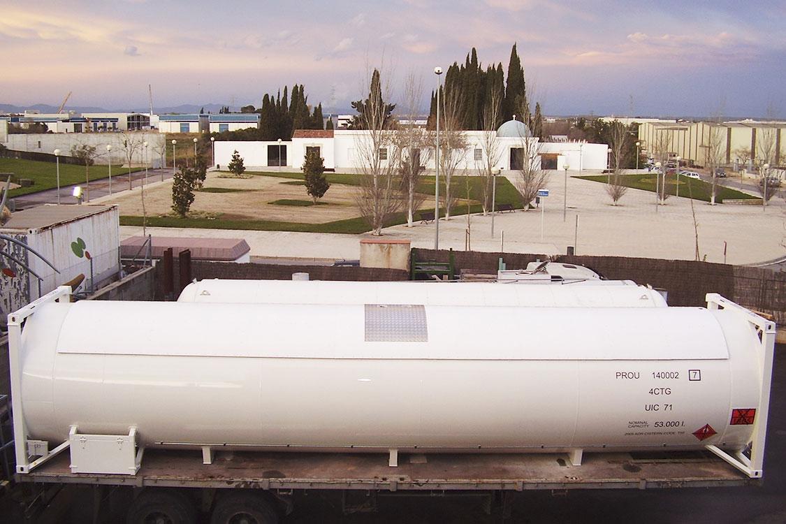 Contenedor 40 pies (53 m3) para el transporte de GLP - Amoníaco