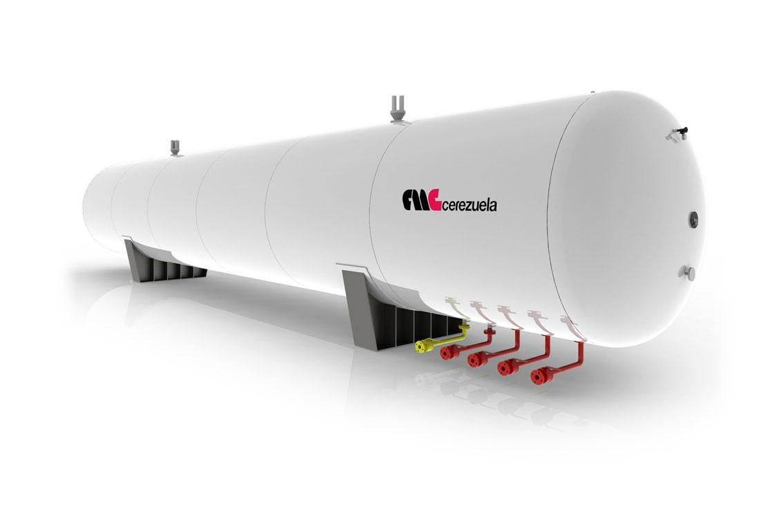 Depósitos estáticos para almacenamiento de GLP - Amoníaco