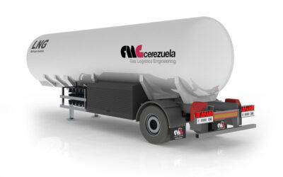 Semirremolque 1 ejes para el transporte y distribución de GNL – LIN – LOX – LAR – LOC2 – Etileno