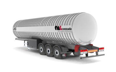 Semirremolque 3 ejes para el transporte y distribución de GNL – LIN – LOX – LAR – LOC2 – Etileno