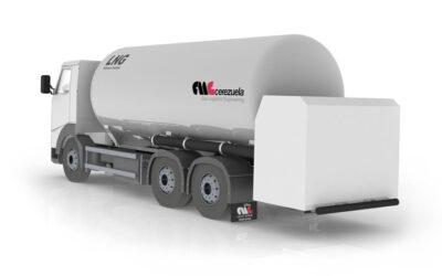 Autocisterna 3 ejes fija para el transporte y distribución de GNL – LIN – LOX – LAR – LOC2 – Etileno