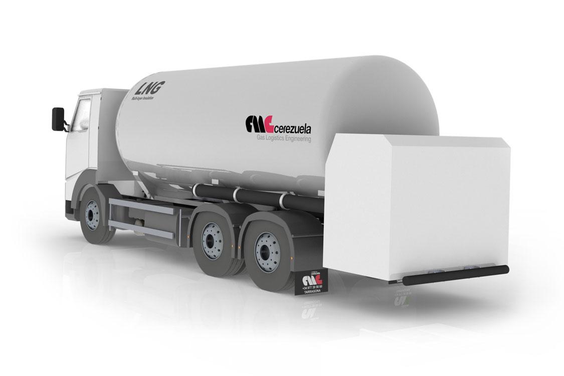 Autocisterna 3 ejes fija para el transporte y distribución de GNL - LIN - LOX - LAR - LOC2 - Etileno