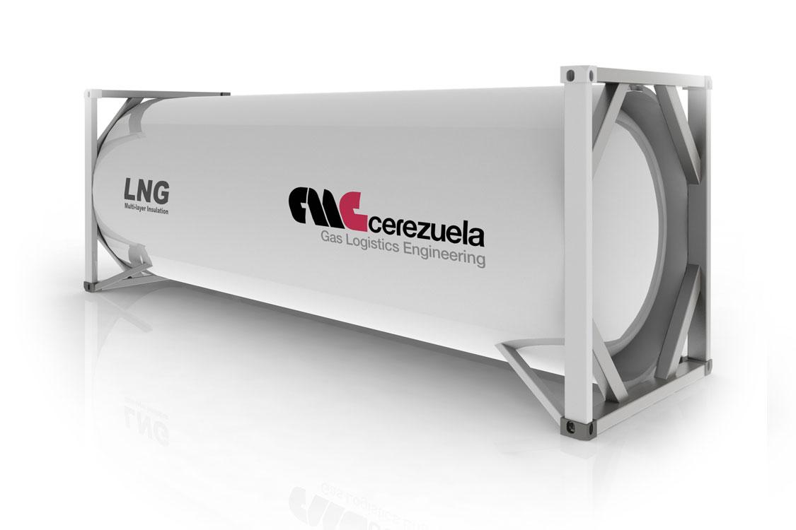 Contenedor 20 pies (20 m3) para el transporte de GNL - LIN - LOX - LAR - LOC2 - Etileno