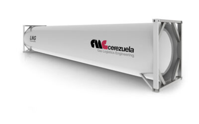 Contenedor 40 pies (47 m3) para el transporte de GNL – LIN – LOX – LAR – LOC2 – Etileno